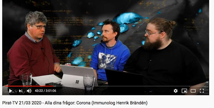 Intervjuad om Corona i Pirat-TV