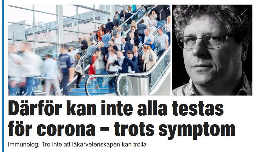 I Expressen om den svåra konsten att designa tester av nya virus