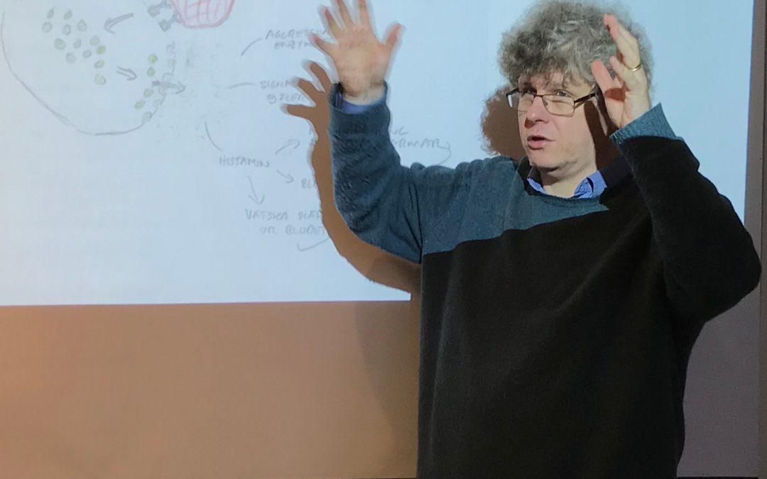 Föreläser om covid-immunitet och vaccin för biologilärare i Jönköping