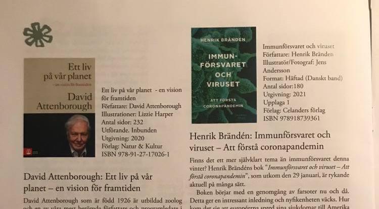 """""""Immunförsvaret och viruset"""" recenserad i Biologen"""